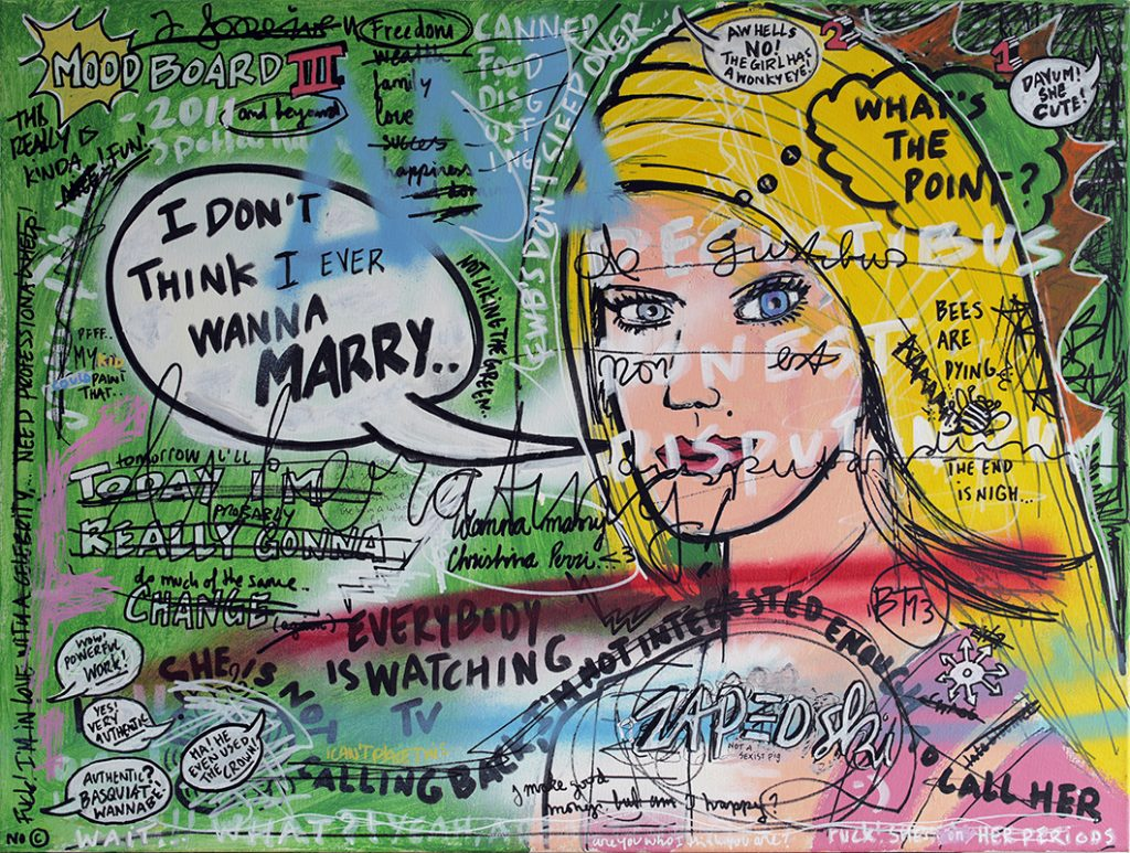 IISHOO Art Agency - Socially involved and inspirational original art under 500 on canvas created with mixed media by Zapedski about relations
