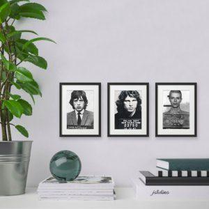 AC20201205 IISHOO ArtCARDS Mugshots Series 1 Mick Jagger Jim Morrison David Bowie