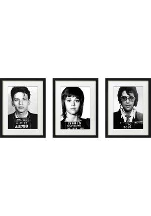 AC20201203 IISHOO ArtCARDS Mugshots Series 1 Frank Sinatra Elvis Jane Fonda