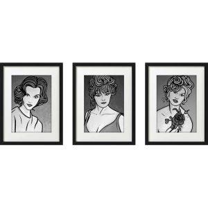 AC20201204 IISHOO Artcards Zapedski Classic jane fonda brigitte bardot elke sommer