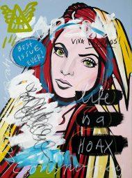 IISHOO Art Agency - Socially involved and inspirational original art under 500 on canvas created with mixed media by Zapedski