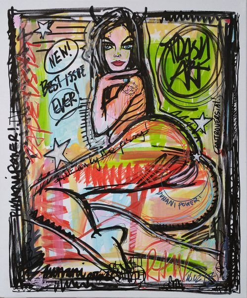 IISHOO Art Agency - Socially engaged original art under 250 on cotton canvas created with Paint Markers by Zapedski about Punani Power