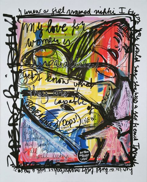 IISHOO Art Agency - Socially engaged original art under 250 on cotton canvas created with Paint Markers by Zapedski about infidelity adultery cheating